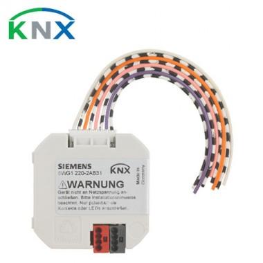 SIEMENS KNX Interface bouton poussoir 4 entrées bin/ sorties