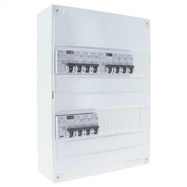 SIEMENS Tableau électrique prééquipé 2 rangées avec 3 ID 40A