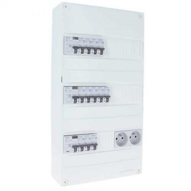 SIEMENS Tableau électrique prééquipé 3 rangées avec 3 ID 63A