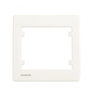 SIEMENS Delta Iris Plaque simple - Blanc