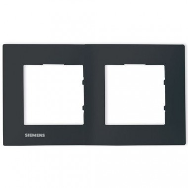 SIEMENS Delta Viva Plaque double - Anthracite