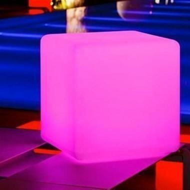 Petit cube lumineux à LED multicolore sans fil étanche - 2