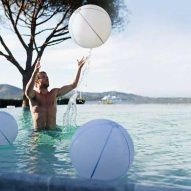 Boule lumineuse gonflable LED multicolore étanche et flottante 60cm