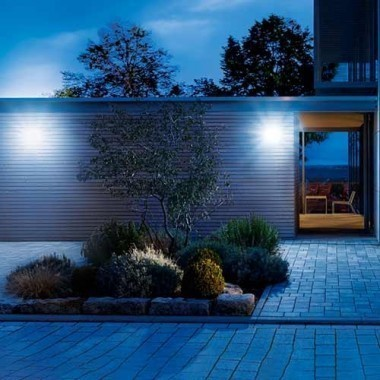 Luminaire extérieur LED Steinel XLED Home 2 à détection 230V 14,8W 1184lm 4000°K argent - 033057
