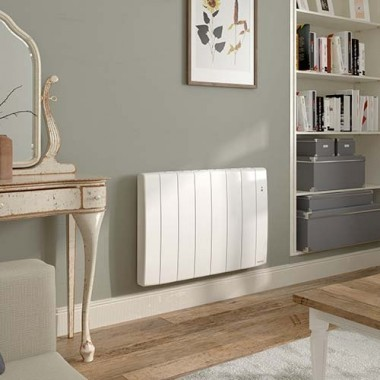 radiateur connect inertie fluide horizontal 1500w. Black Bedroom Furniture Sets. Home Design Ideas