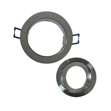 VISION-EL Support de spot rond aluminium brossé - 2
