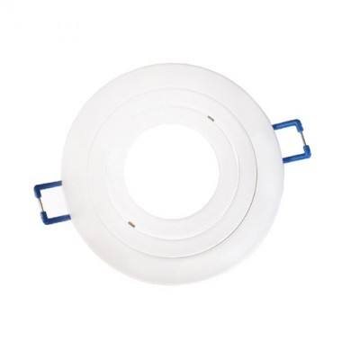 VISION-EL Anneau orientable rond pour spot encastré 92 mm blanc - 77141