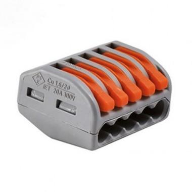 WAGO 15 bornes automatiques fils souples et rigides 5x2.5² S222 - 2