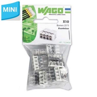 WAGO Sachet de 10 mini-bornes de connexion 8 fils S2273