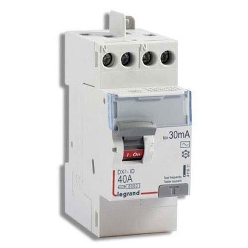 interrupteur diff rentiel legrand 40a 30ma type ac dx3. Black Bedroom Furniture Sets. Home Design Ideas