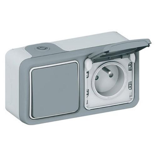 interrupteur va et vient et prise de courant legrand plexo tanches ip55. Black Bedroom Furniture Sets. Home Design Ideas
