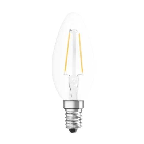 ampoule led filament osram e14 230v 1 6w 15w flamme. Black Bedroom Furniture Sets. Home Design Ideas