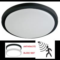 Hublot extérieur LED à détection 230V 18W 1600LM 4000K 250mm blanc/anthracite