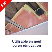 KIMY Kit chauffage rayonnad pour plafond Plafosun 8m²
