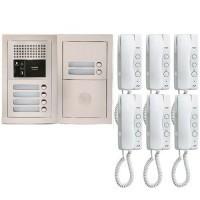 Pack interphone encastré avec 6 combinés - GTBA6E AIPHONE