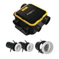 ALDES Kit VMC simple flux autoréglable EasyHOME COMPACT avec grilles BIP - 11026035