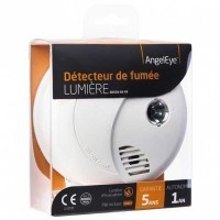 ANGELEYE Lumière Détecteur de fumée avec lumière d'évacuation - garantie 5 ans