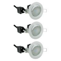EASYLIGHT Lot de 3 spots LED encastrables et orientables 230V 3x3W 230lm 3000°K blanc