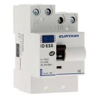 EUROHM Interrupteur différentiel type AC 63A 30mA 3 modules 230V - 23263