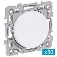 EUROHM Square Lot de 50 interrupteurs va et vient blanc - 60209