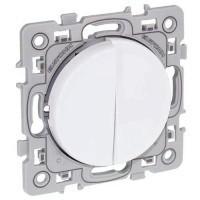 EUROHM Square Interrupteur double va et vient blanc - 60210