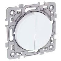 EUROHM Square Double bouton poussoir blanc - 60211
