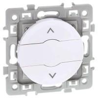 EUROHM Square Bouton poussoir volets roulants blanc - 60224