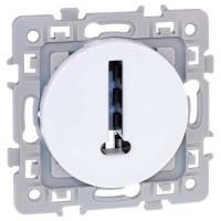 Prise téléphone en T EUROHM Square 8 contacts blanc - 60270