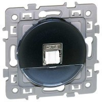 EUROHM Square Prise RJ45 grade 1 catégorie 6 UTP anthracite - 60371
