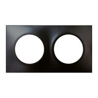 Plaque double EUROHM Square anthracite - 60397
