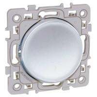 EUROHM Square Bouton poussoir silver - 60402