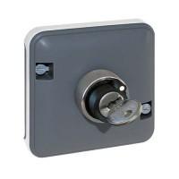 EUROHM Oxxo Interrupteur à clé 3 positions étanche composable anthracite IP55 - 60829