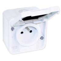 EUROHM Oxxo Prise de courant 2P+T étanche complet blanc IP55 - 60850