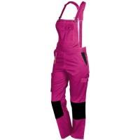 Salopette de travail femme FASHION Sécurité rose noir T44-46 - 660113
