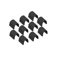 INOFIX Cablefix Accessoires droits 8 x 7 mm pour gaine adhésive - Noir