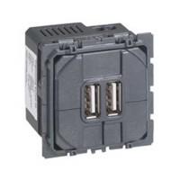LEGRAND Céliane Prise double pour chargeur USB 1500mA - 067462