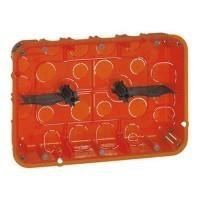 LEGRAND Batibox Boite encastrement 2x 3 postes multimatériaux P50 – 080126