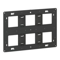 LEGRAND Batibox Support 2x3 postes pour fixation à vis - 080266