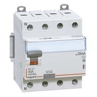 LEGRAND DX3 Interrupteur différentiel 4P 40A Type AC 30mA - 411661