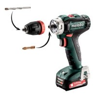 Perceuse Visseuse sans fil METABO 12V 2x2Ah PowerMaxx BS 12Q - 601037500