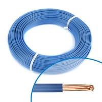 Fil électrique rigide H07VR 6mm² bleu - Couronne de 100m