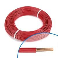 Fil électrique rigide H07VR 6mm² rouge - Couronne de 100m