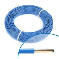 Fil électrique rigide H07VU 1.5mm² bleu - Couronne de 100m