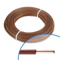 Fil électrique rigide H07VU 1.5mm² marron - Couronne de 100m
