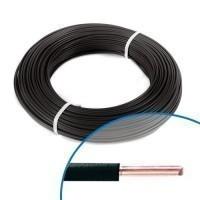 Fil électrique rigide H07VU 1.5mm² noir - Couronne de 100m