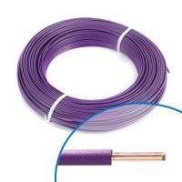 Fil électrique rigide H07VU 1.5mm² violet - Couronne de 100m