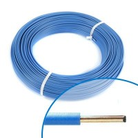 Fil électrique rigide H07VU 2.5mm² bleu - Couronne de 100m
