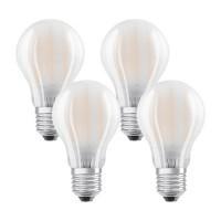 OSRAM Lot de 4 ampoules LED E27 230V 7W(=60W) 806lm 2700°K standard