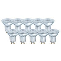 Lot OSRAM de 10 spots LED PAR16 dimmable GU10 36° 230V 5,5W(=50W) 350lm 4000°K
