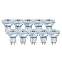 Lot OSRAM de 10 spots LED PAR16 dimmable GU10 36° 230V 5,5W(=50W) 350lm 4000°K